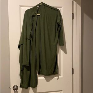 Lucy Pure Light wrap olive xs
